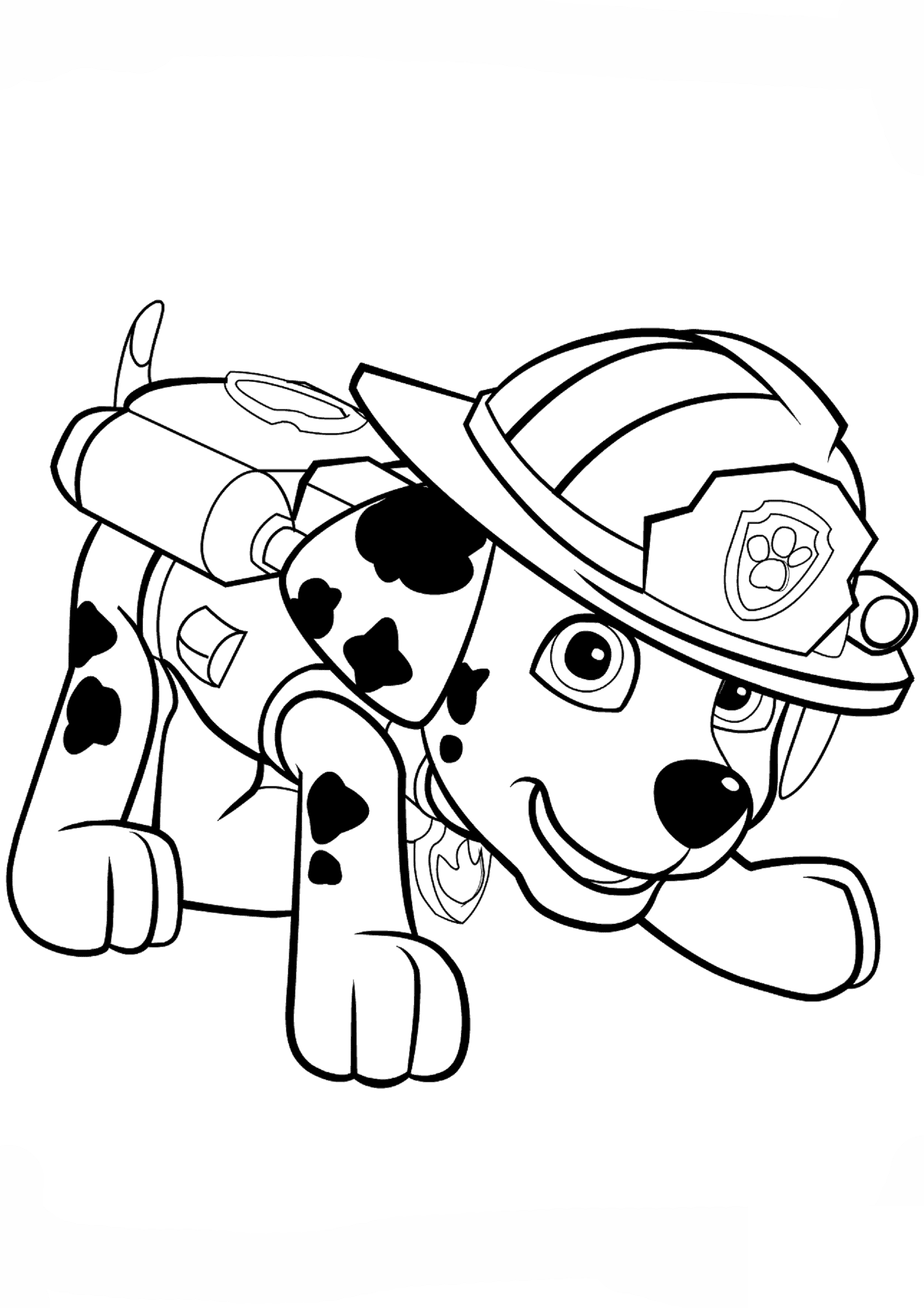 paw patrol coloring pages marshal