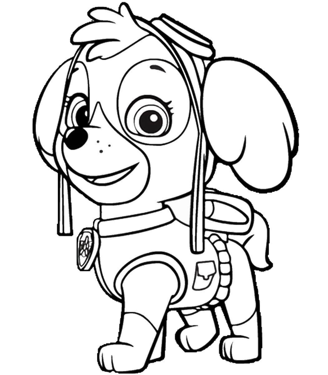 paw patrol coloring pages skye