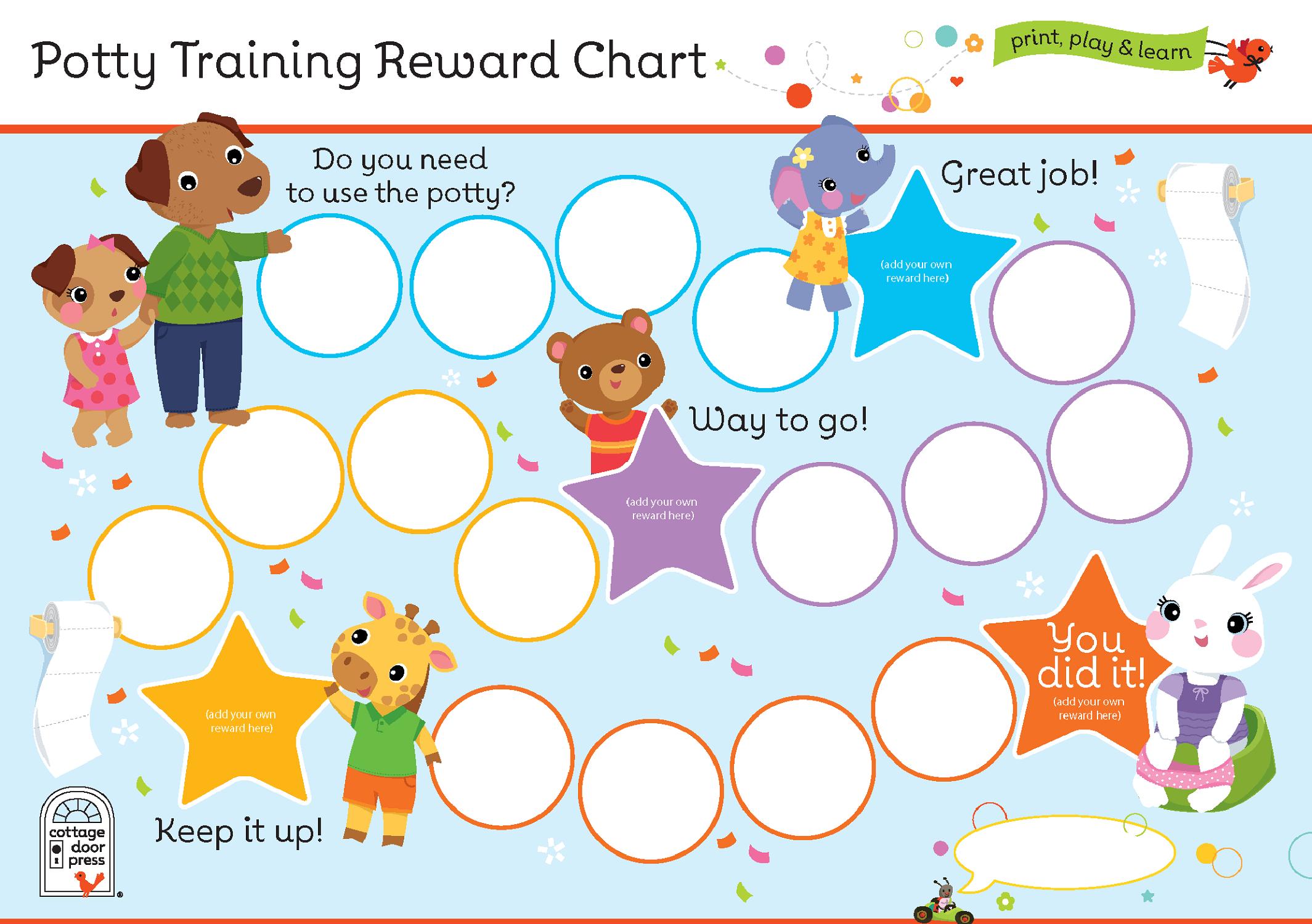 potty training reward chart potty kids
