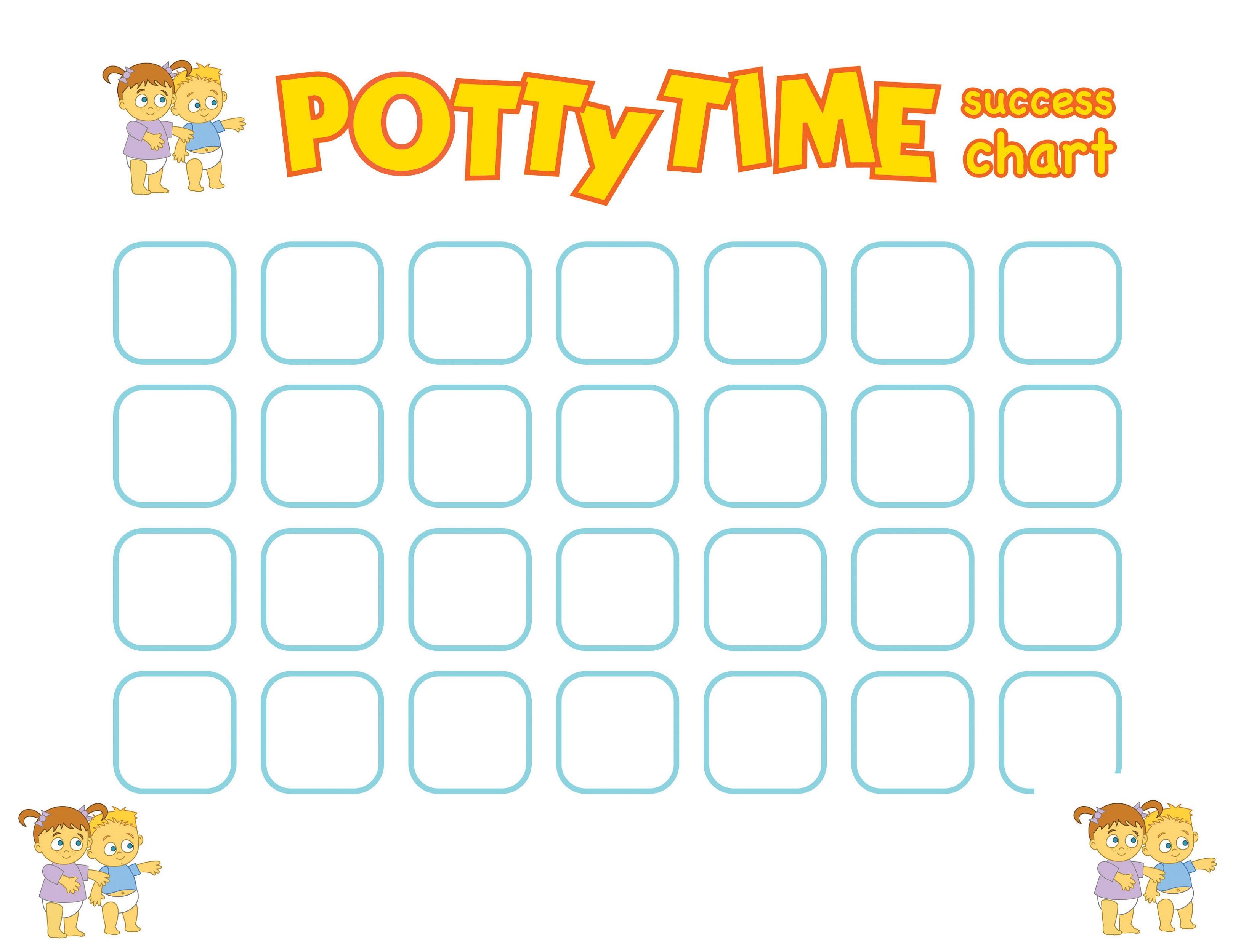 potty training reward chart potty time