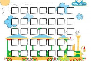 potty training reward chart train