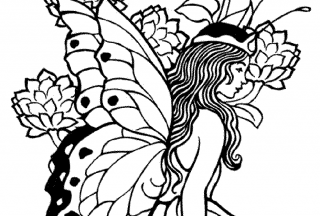 printable coloring pages for adults princess butterfly wings