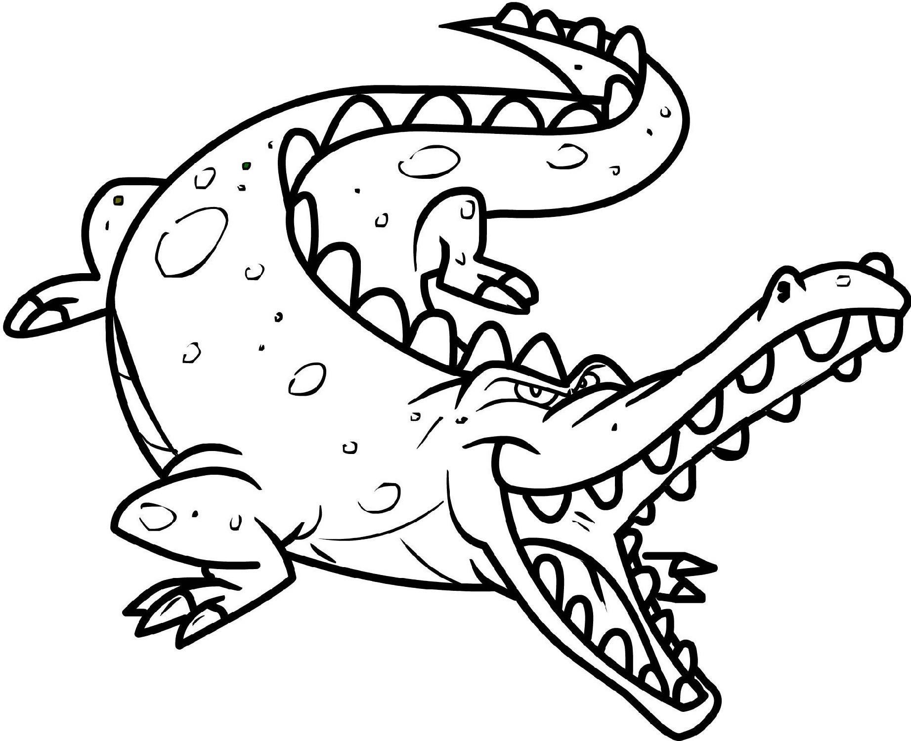 printable coloring pages for kids crocodile