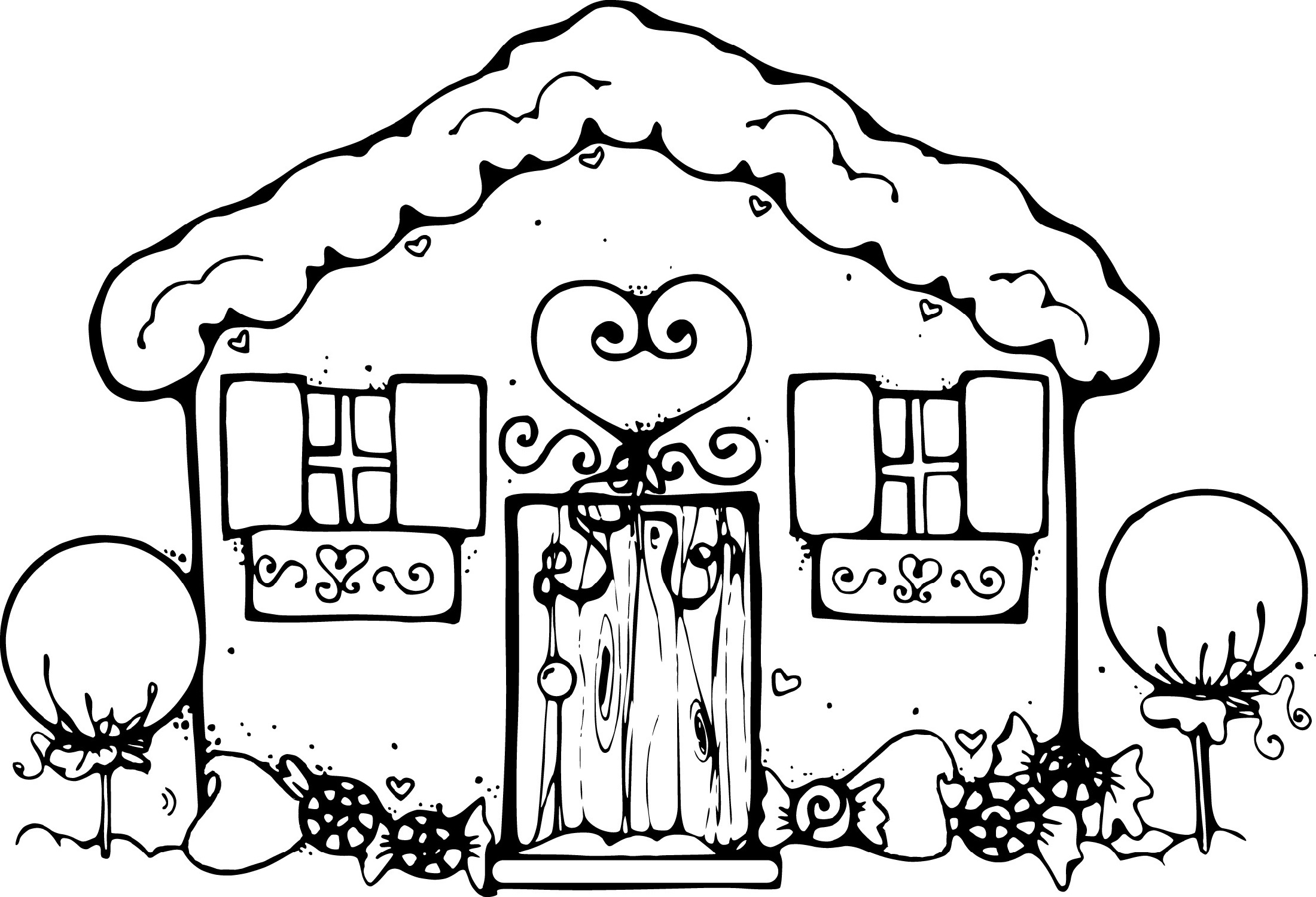 printable coloring pages for kids house