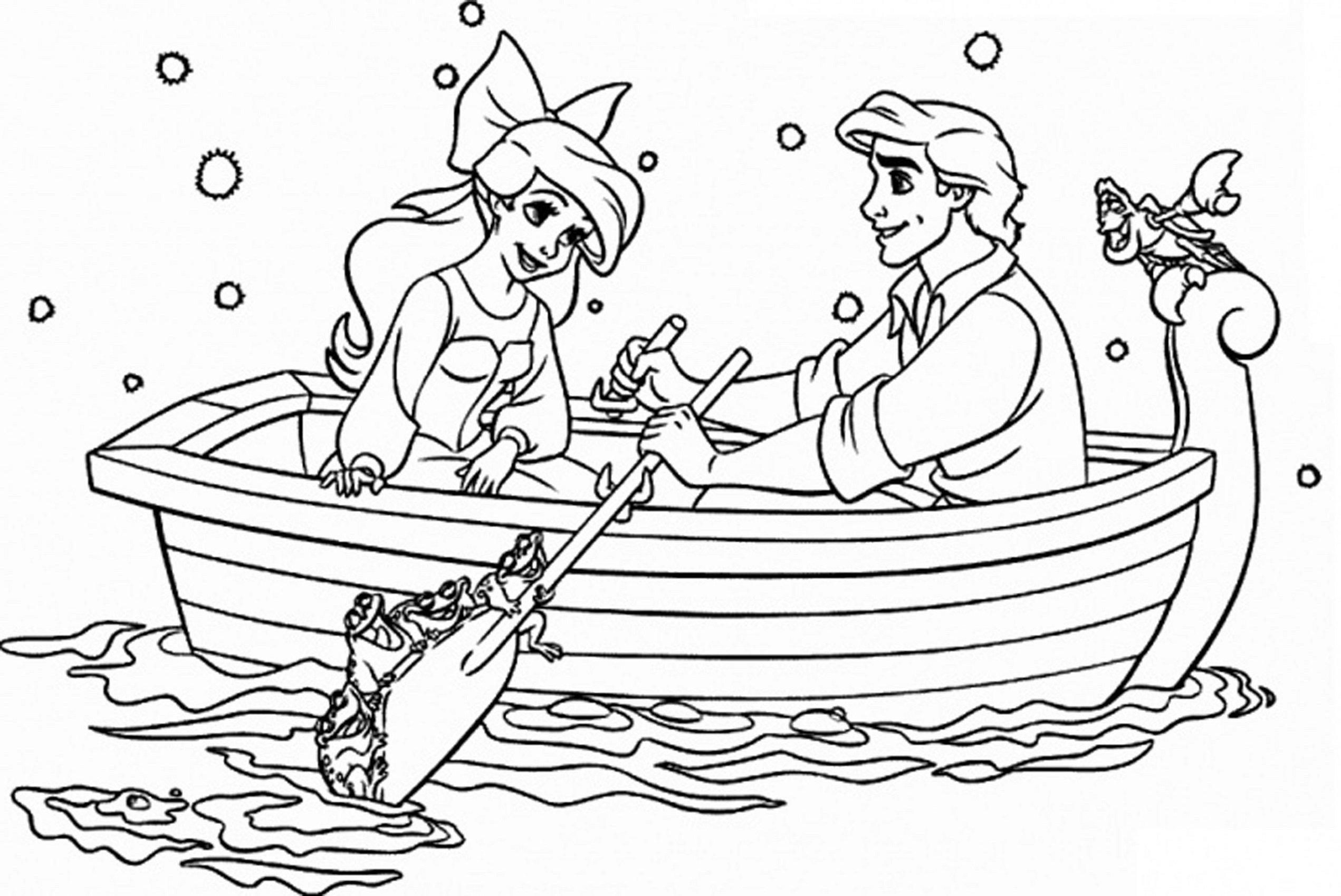 printable coloring pages for kids sail on the lake