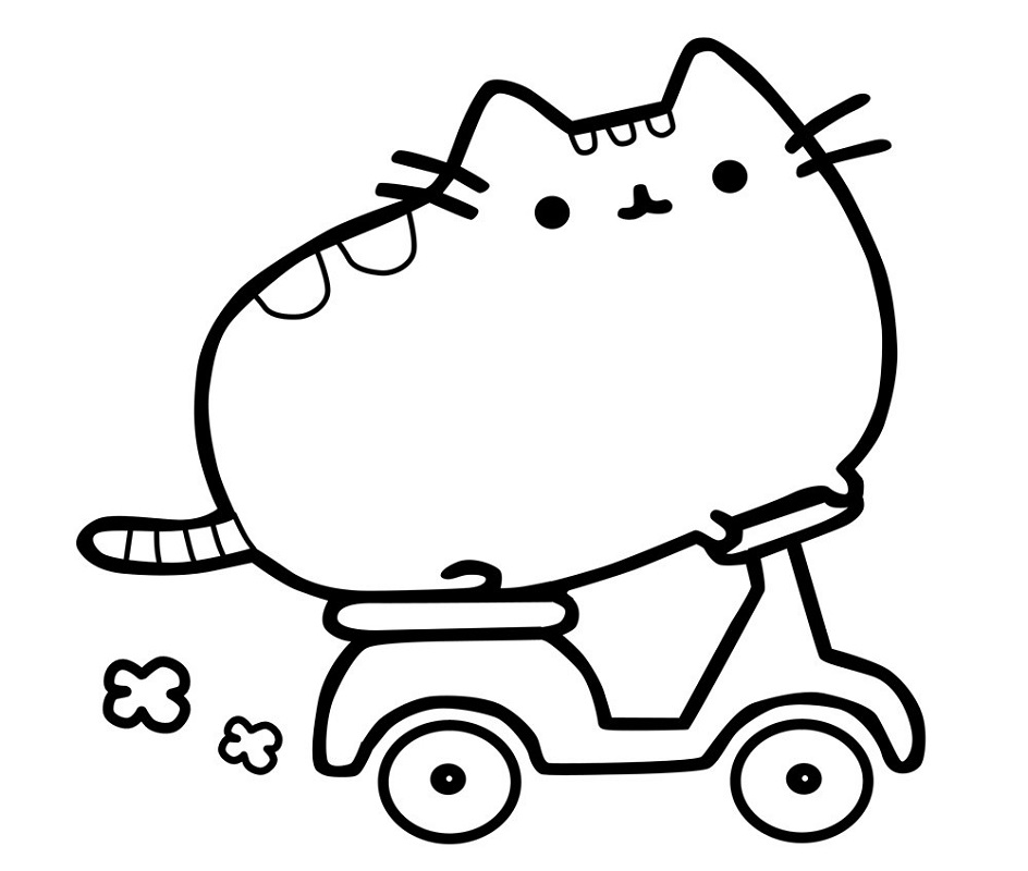 pusheen coloring pages pusheen skutter
