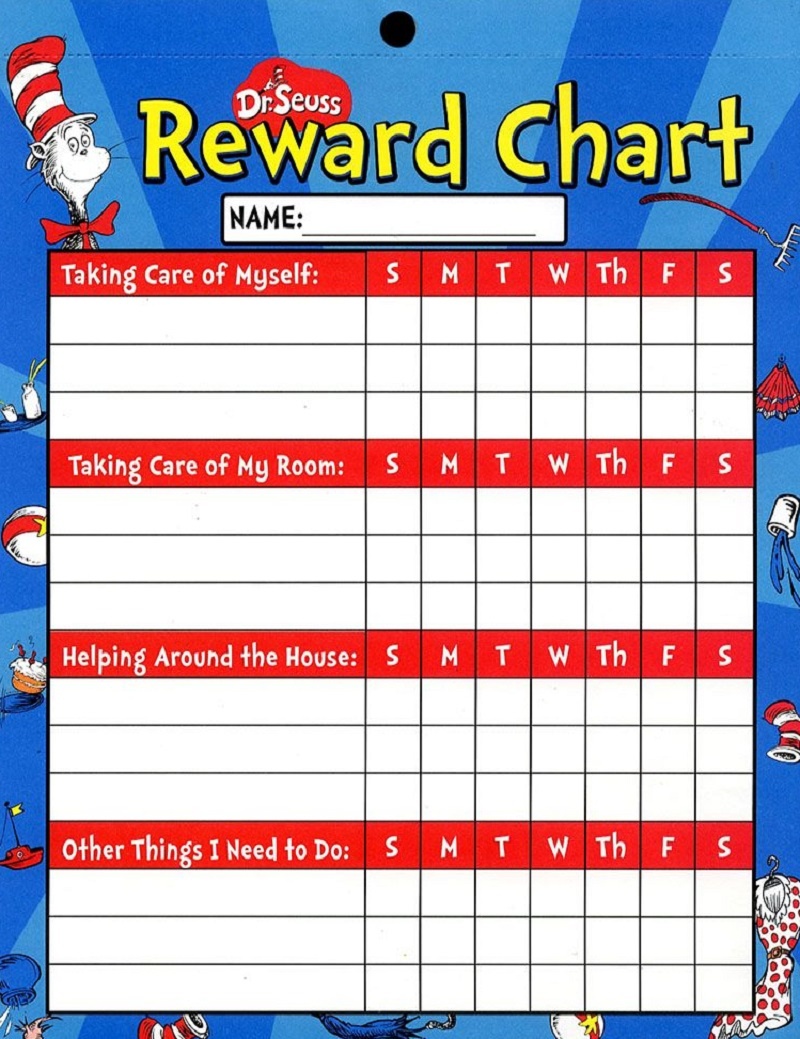 reward chart ideas Dr. Seuss