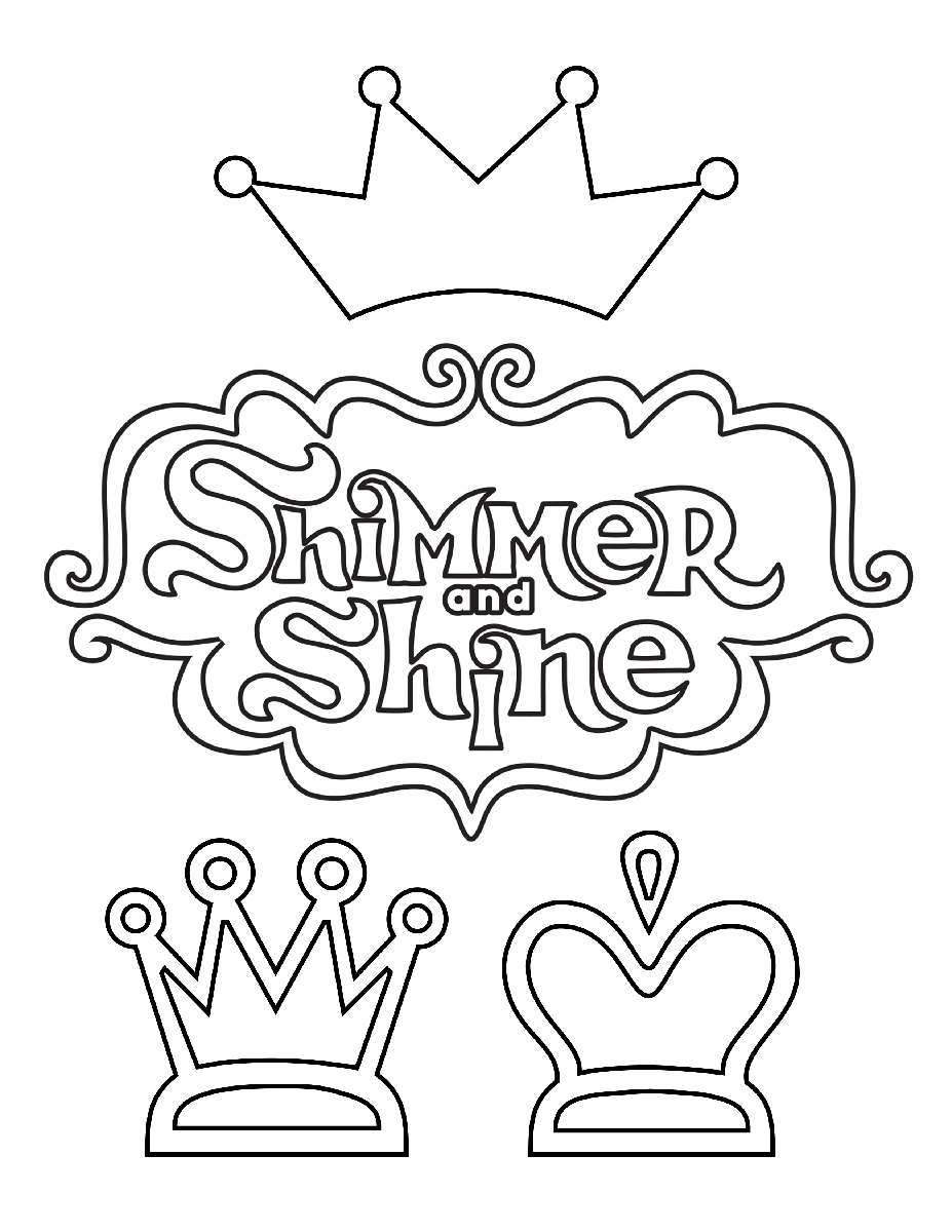 shimmer and shine coloring pages logo