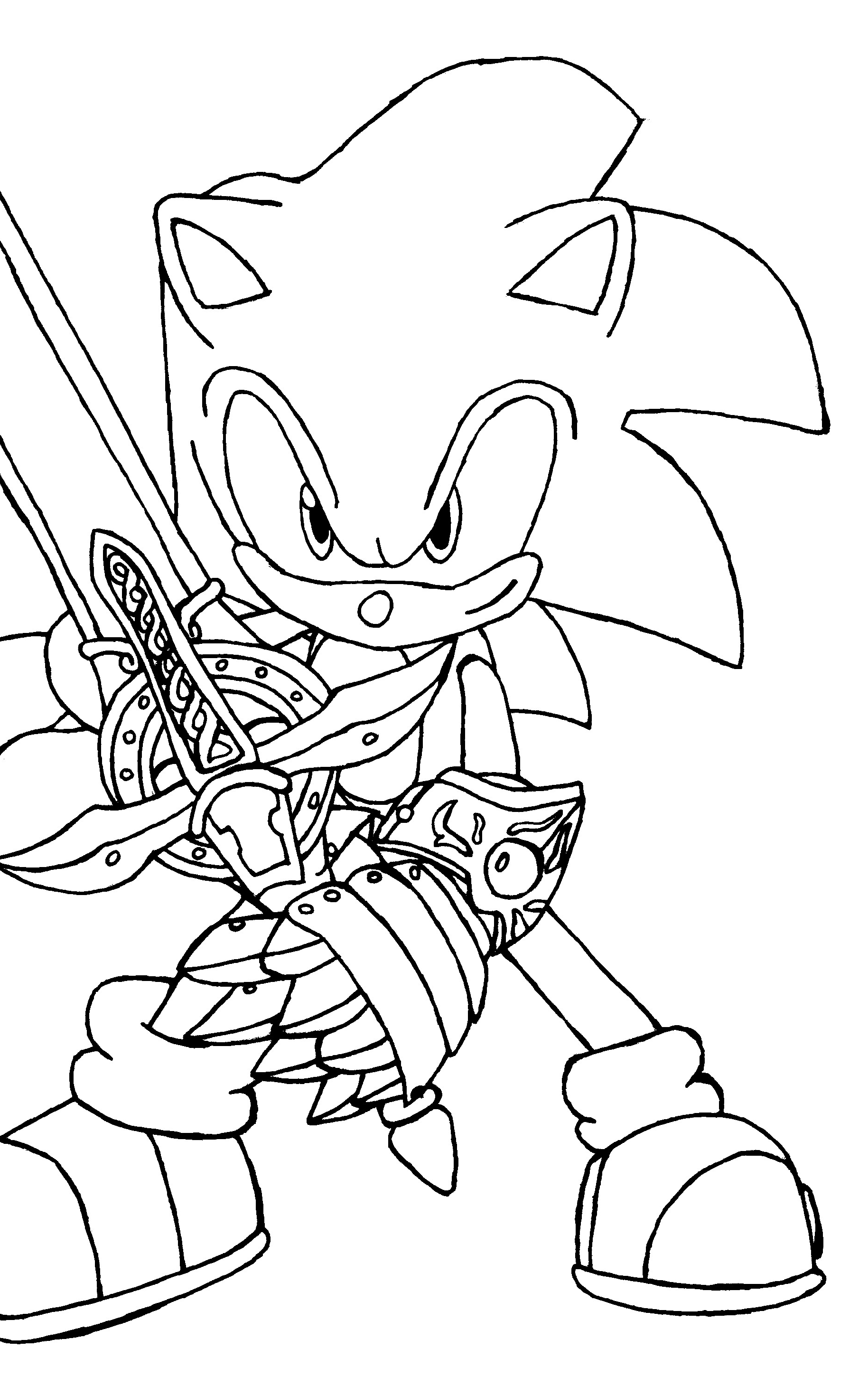 sonic coloring pages sonic