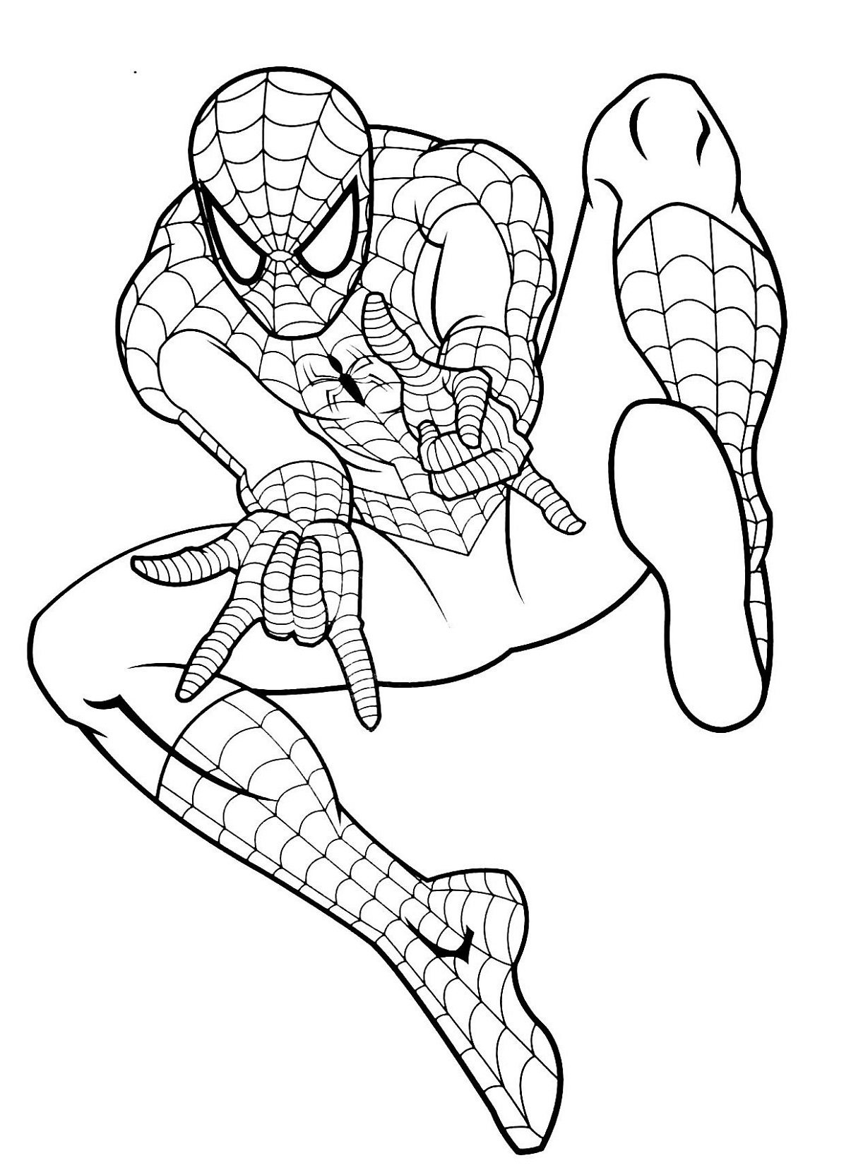 spiderman coloring pages spiderman jump