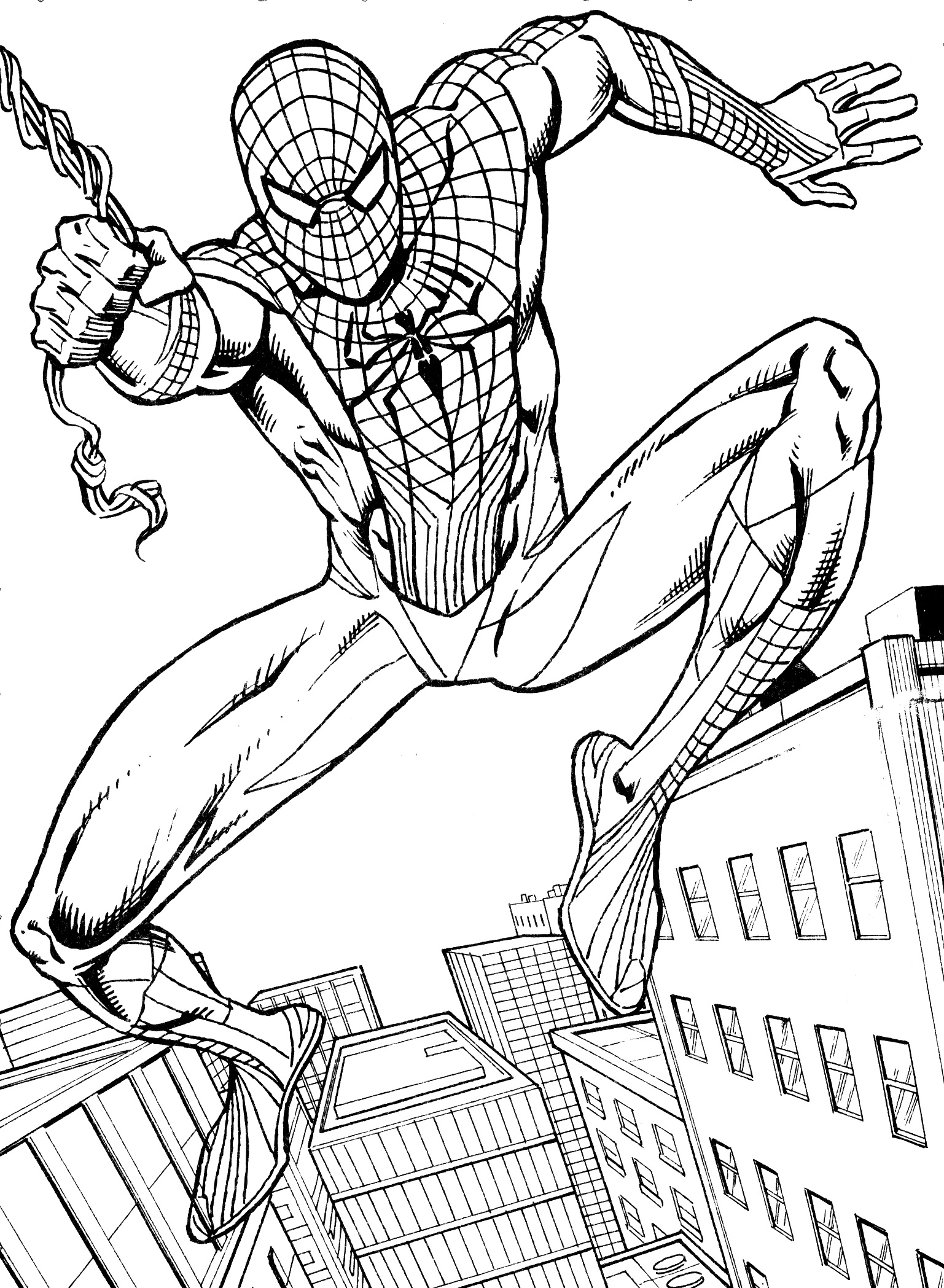 spiderman coloring pages spiderman swing