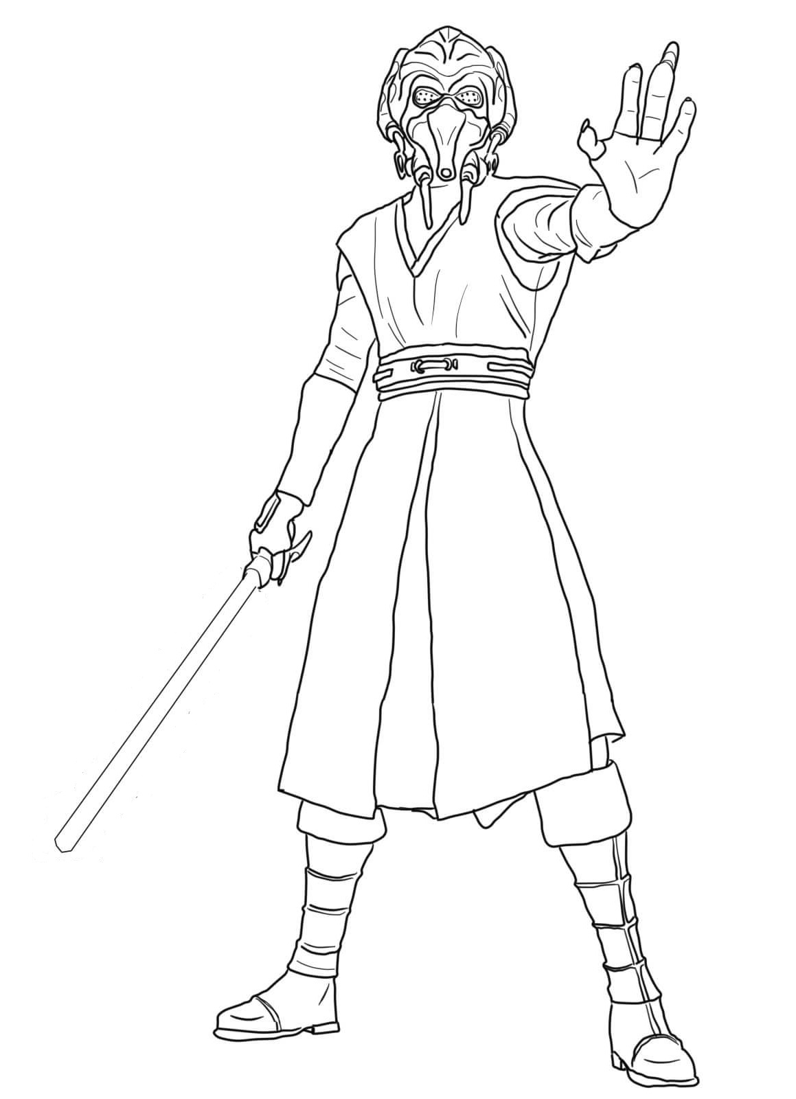 star wars coloring pages jedi