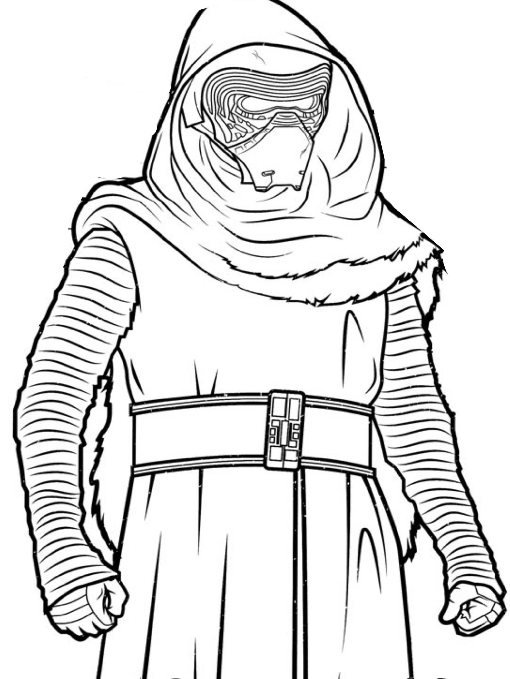 star wars coloring pages kylo ren