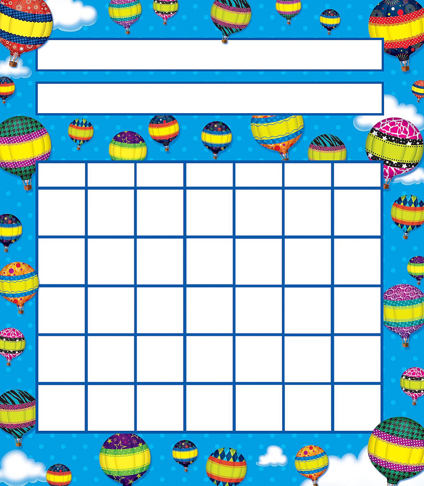 sticker reward chart baloon