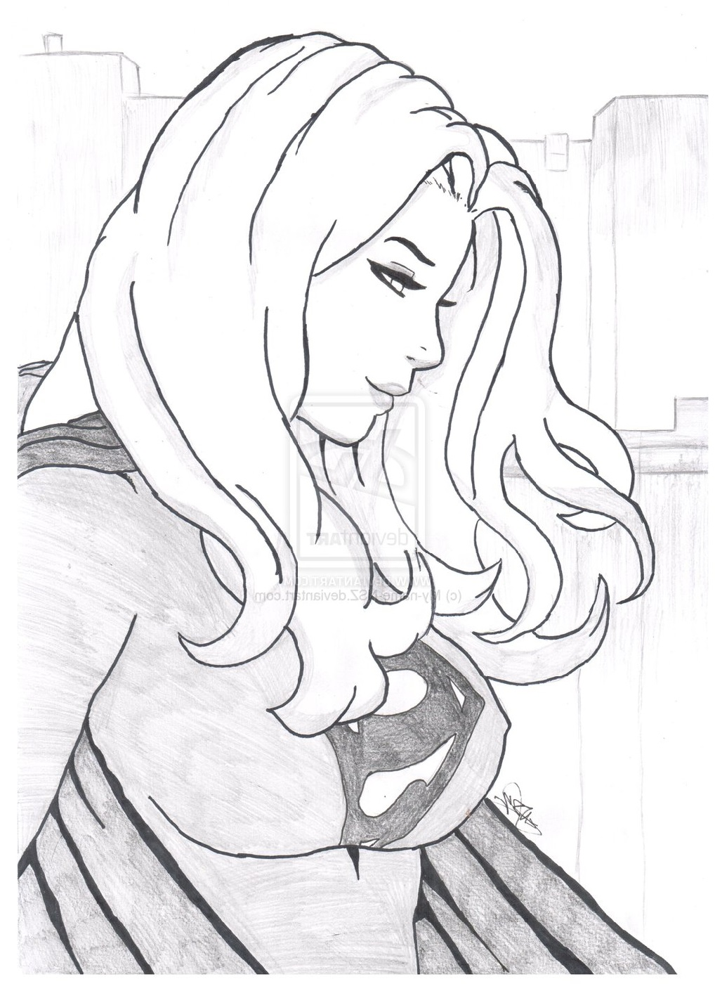 supergirl coloring pages beautiful girl