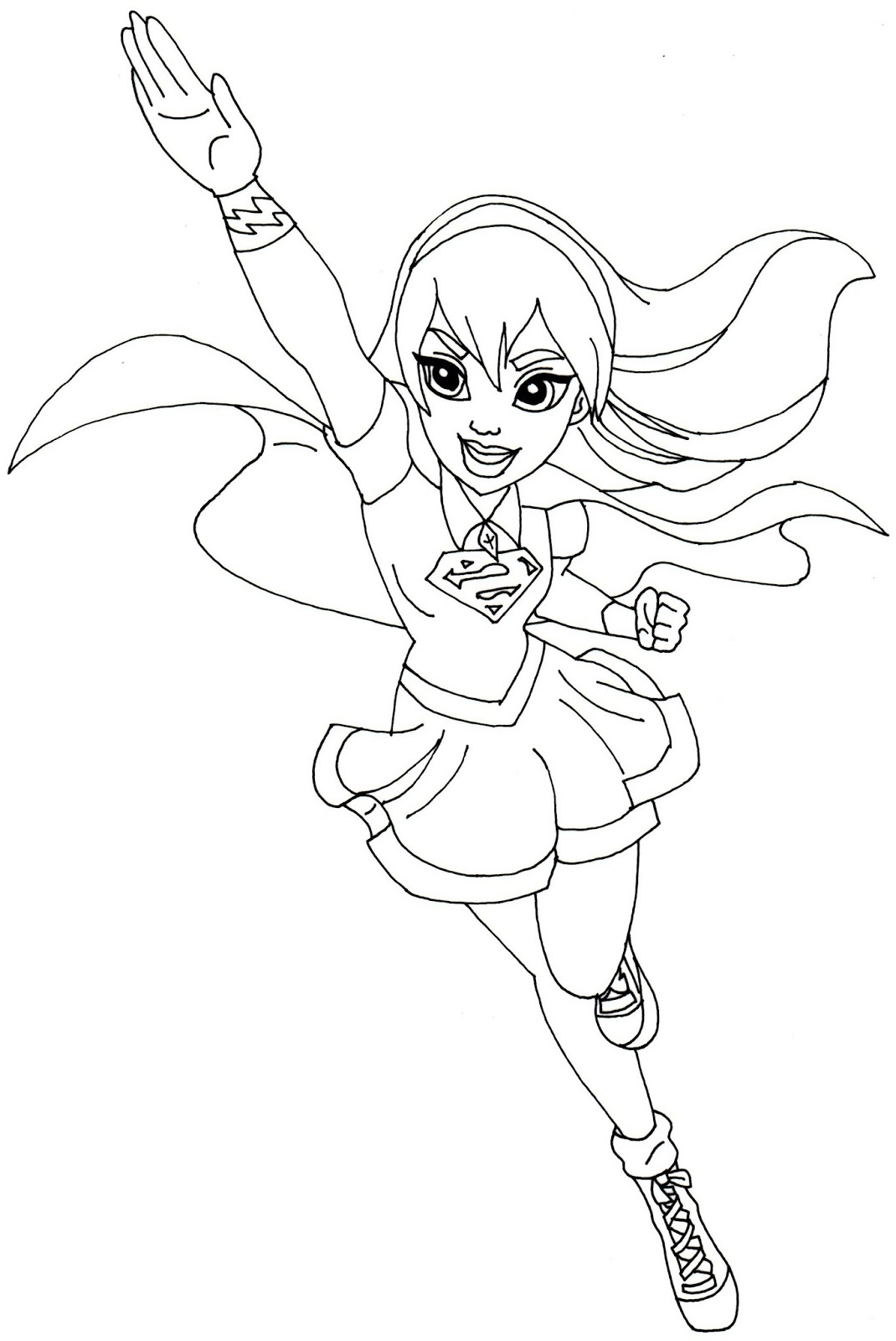 supergirl coloring pages girl fly
