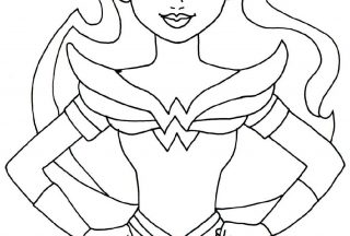 supergirl coloring pages wonder woman