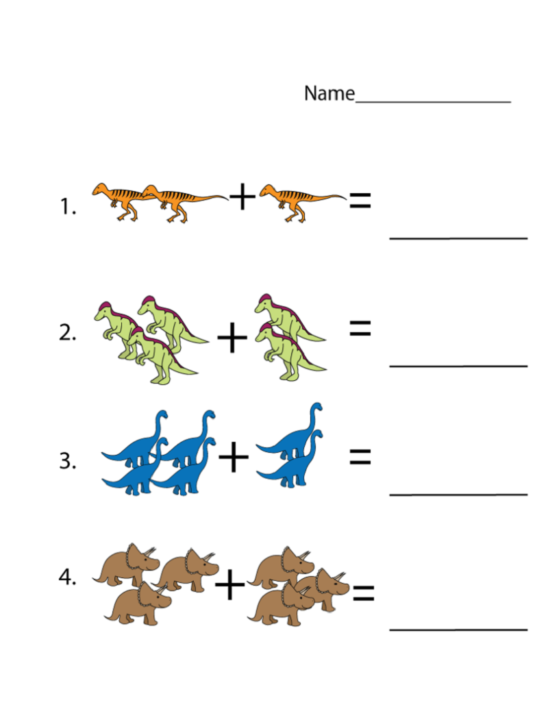 toddler learning printables dinosaurus