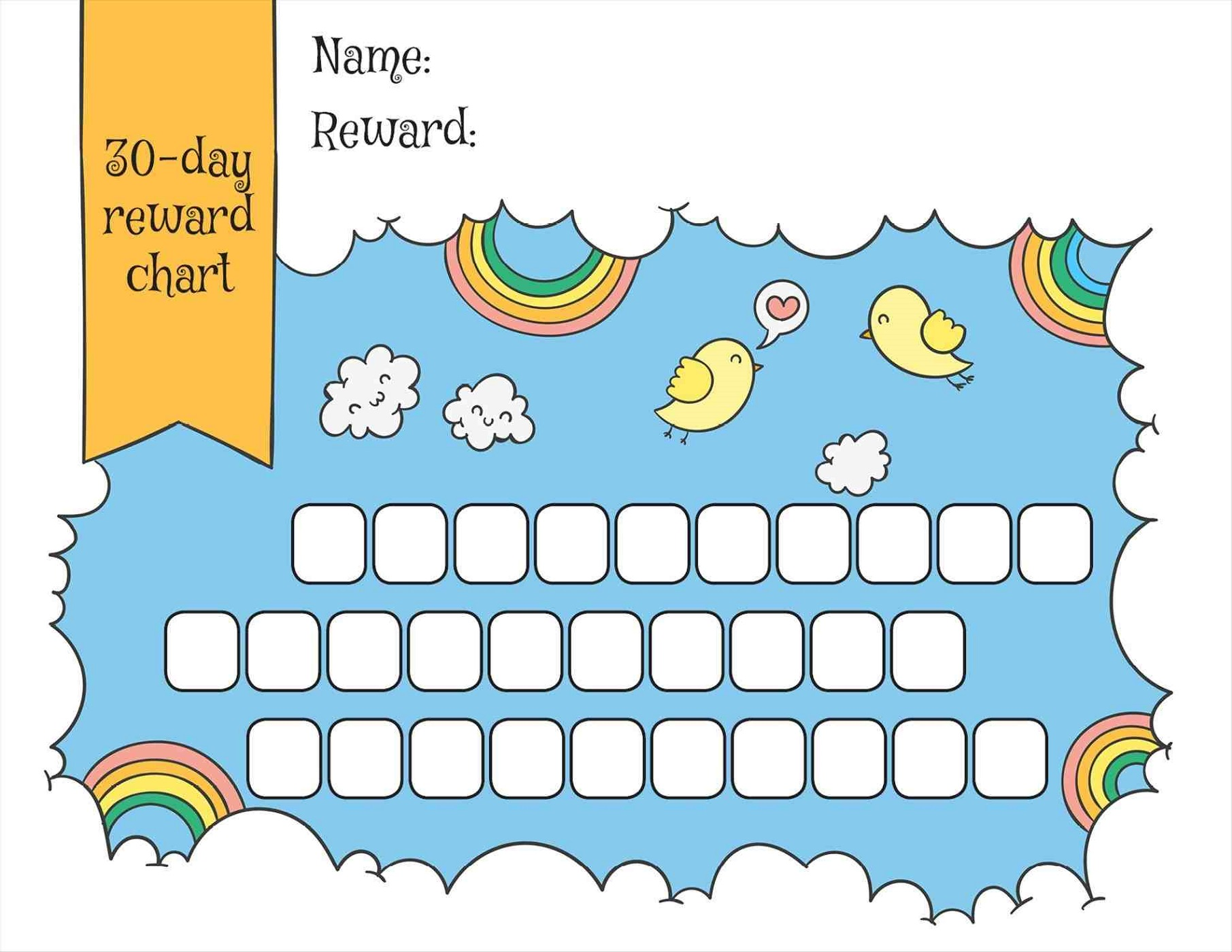 toddler reward chart printable sky