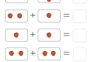 Addition worksheets apple