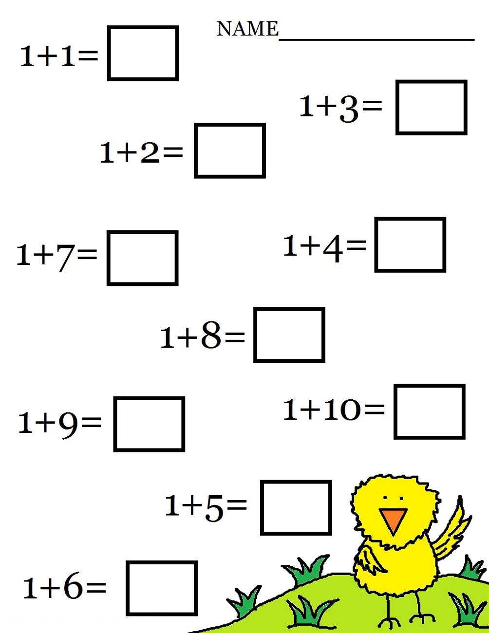 Addition worksheets chickhen addition