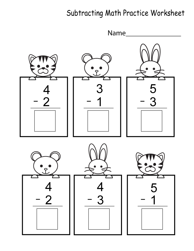 Kindergarten math worksheets cats