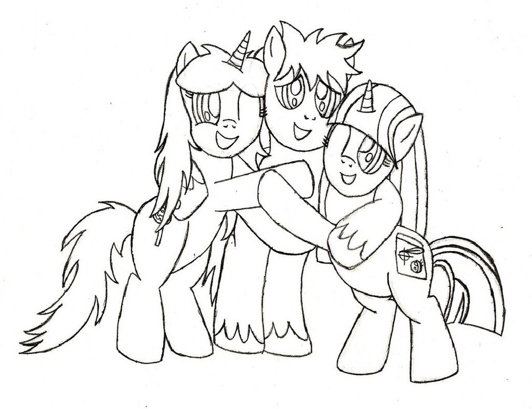 best friend coloring pages bff pony
