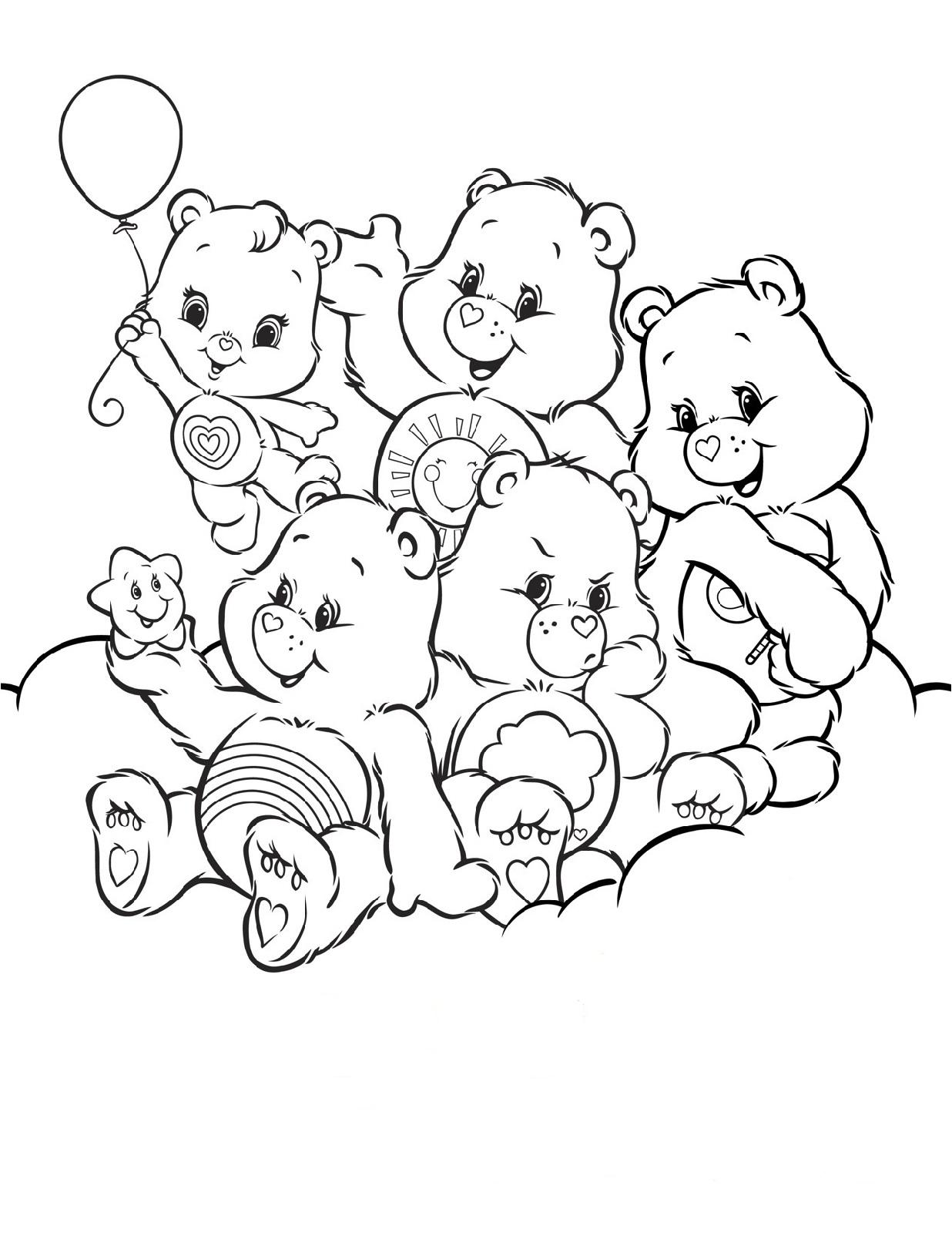 best friend coloring pages friendship bear