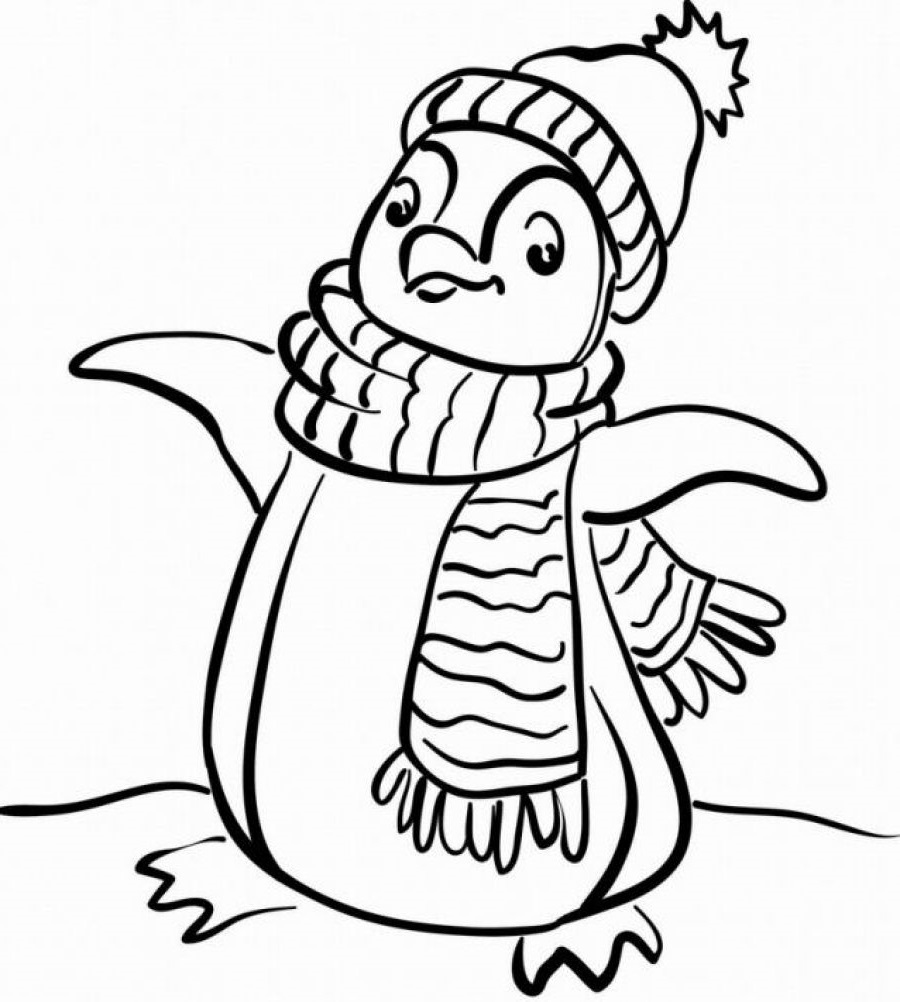 penguin coloring pages cute baby