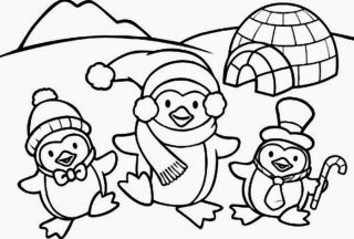 penguin coloring pages penguin and friend
