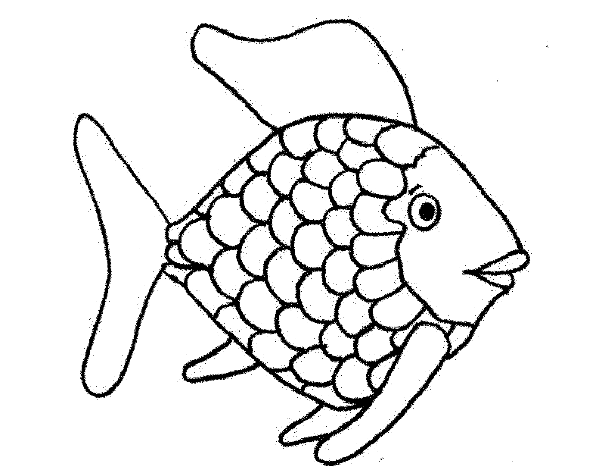 rainbow fish coloring page fish 2