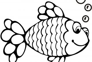 Rainbow Fish Coloring Printable