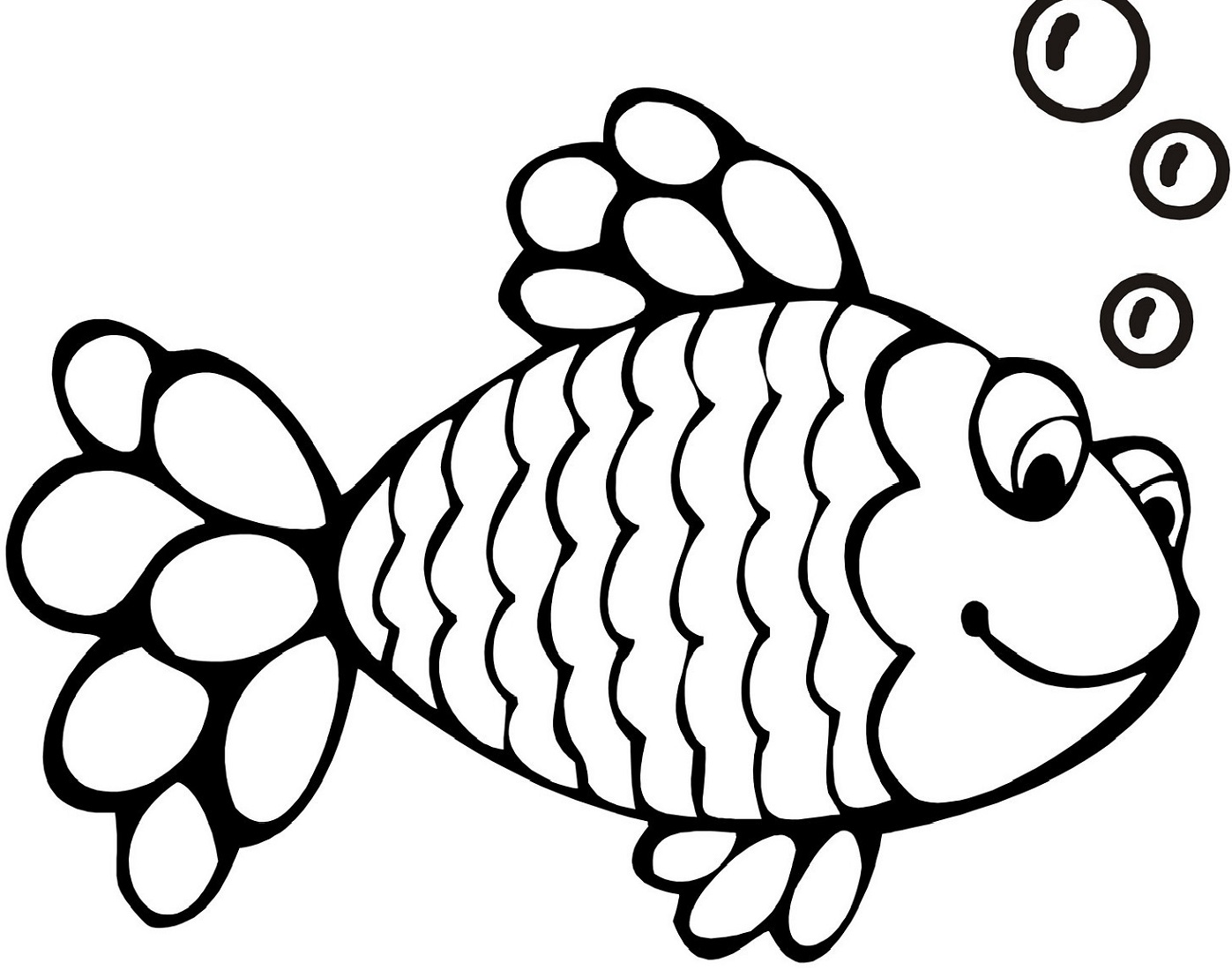 rainbow fish coloring page fish buble