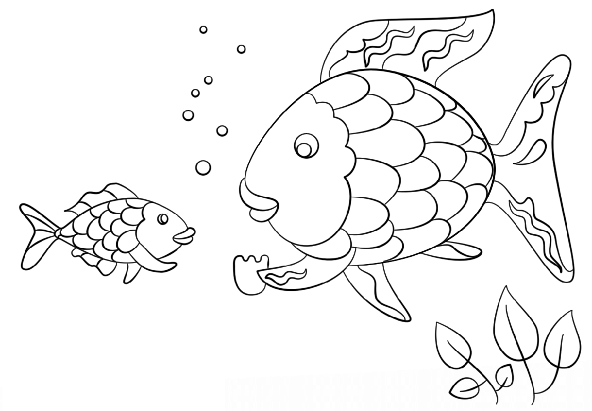 rainbow fish coloring page fish scale