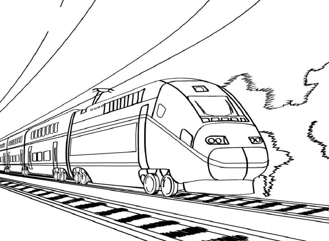 train coloring pages train 2