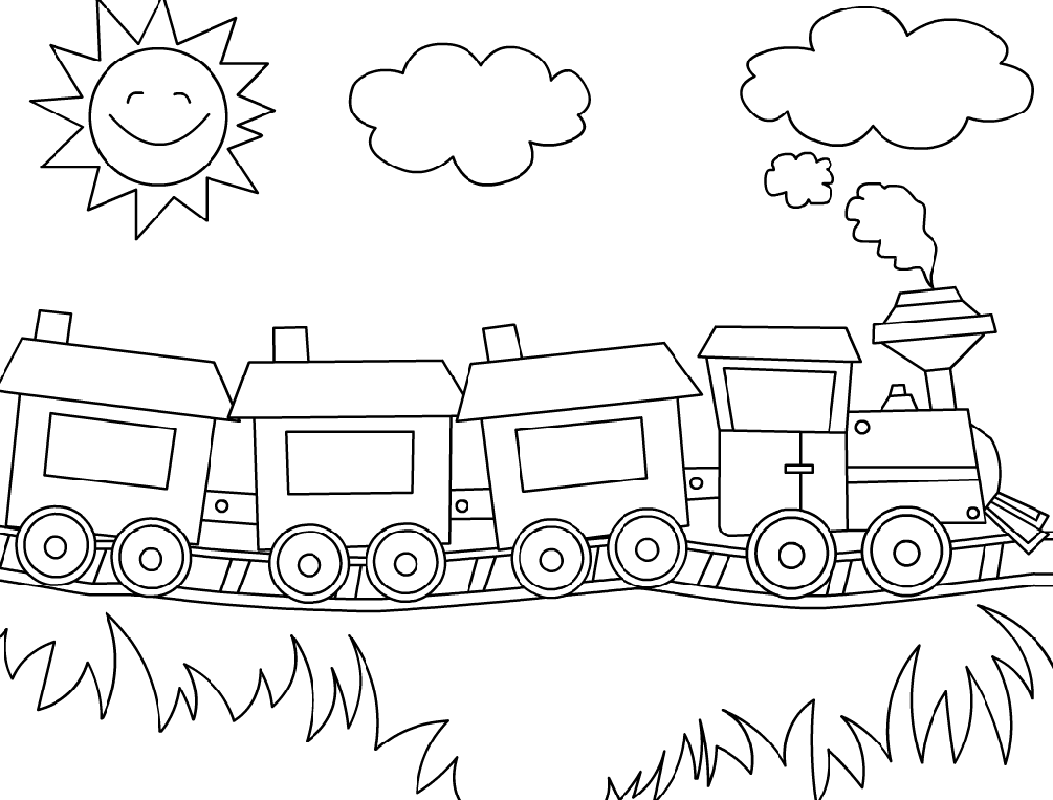 train coloring pages train 5