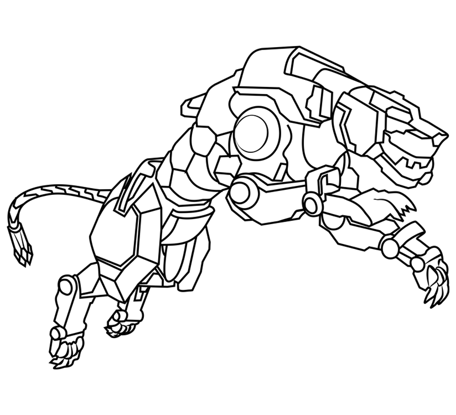 voltron coloring pages yellow lion