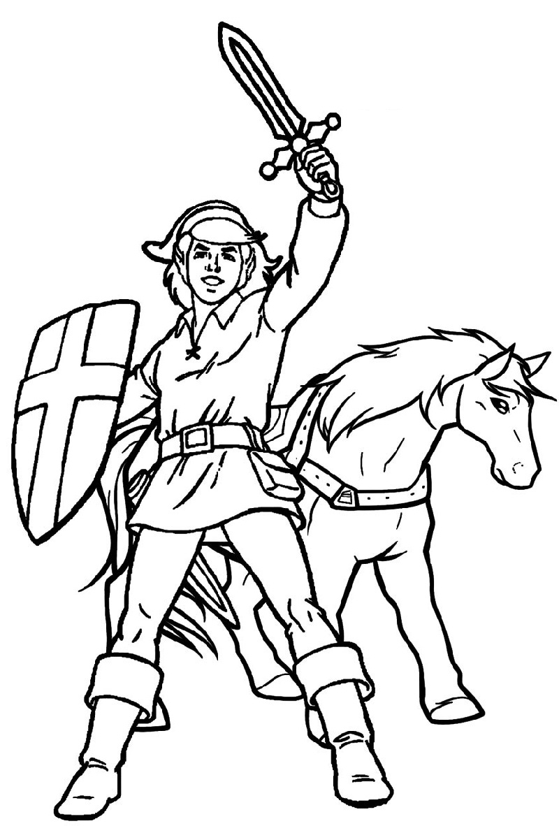 zelda coloring pages zelda and horse