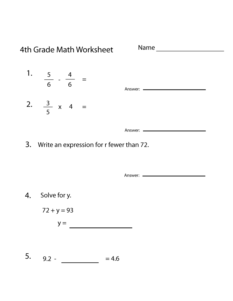 4th grade math math practice