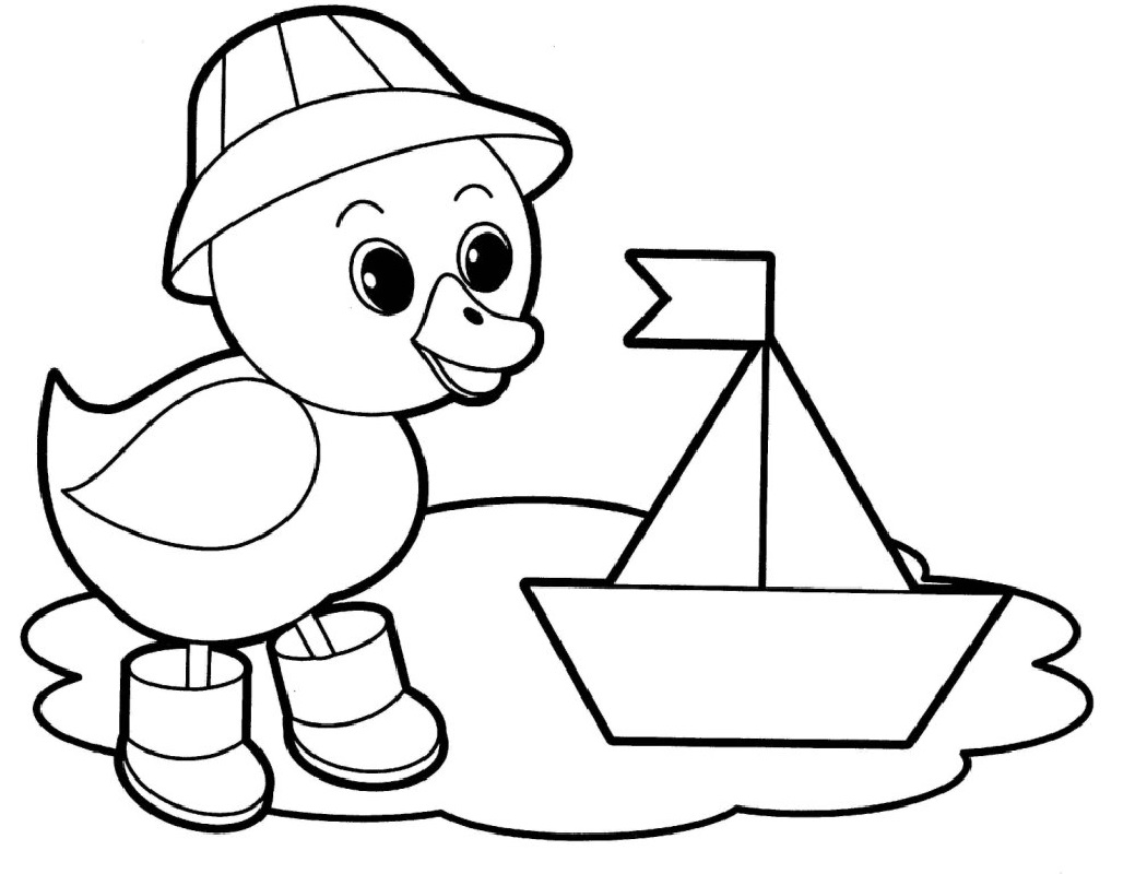 Coloring pages for kids duck