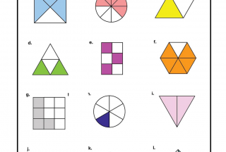 Fractions worksheets shape shaded