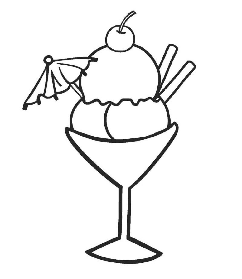 Ice cream coloring pages 4