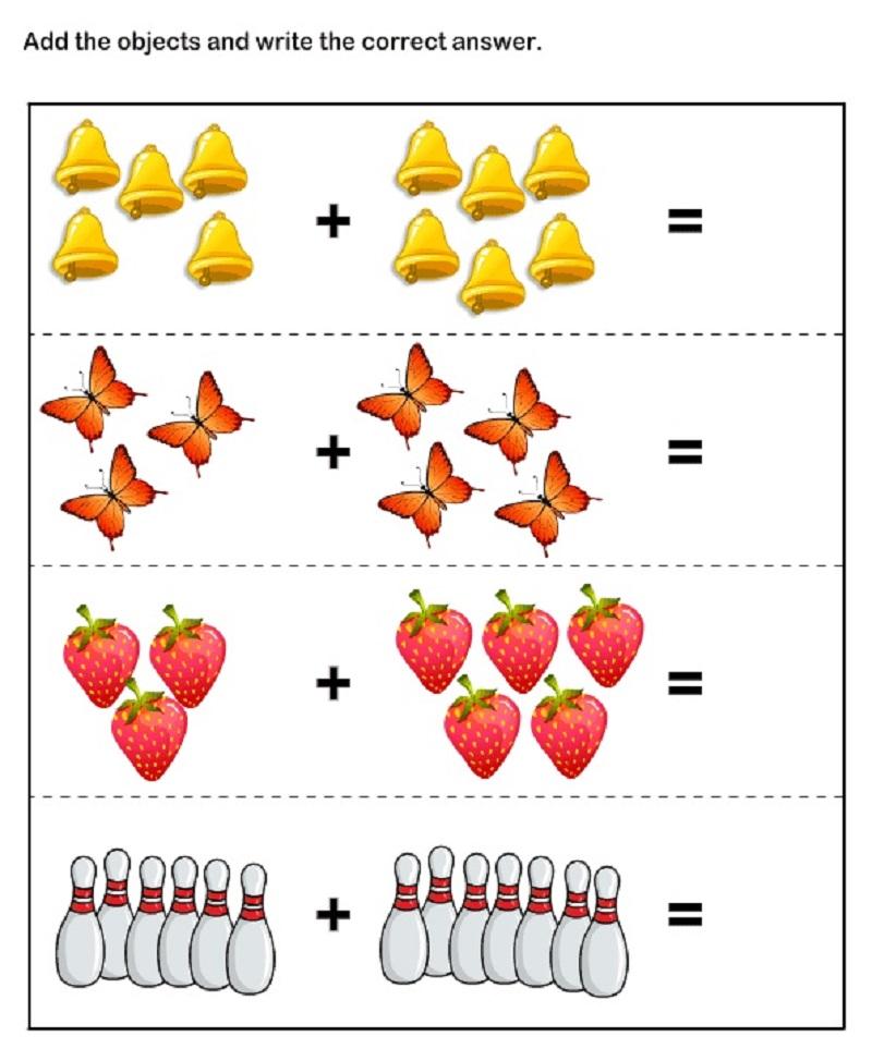 Kindergarten math worksheets object