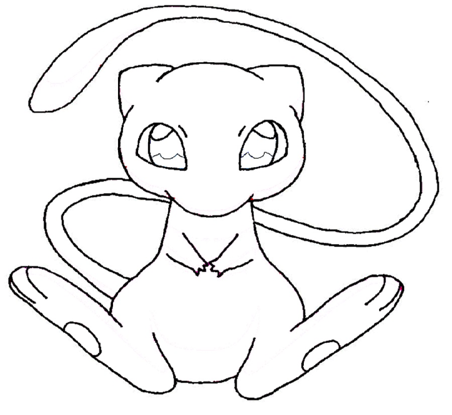 Mew coloring pages 3