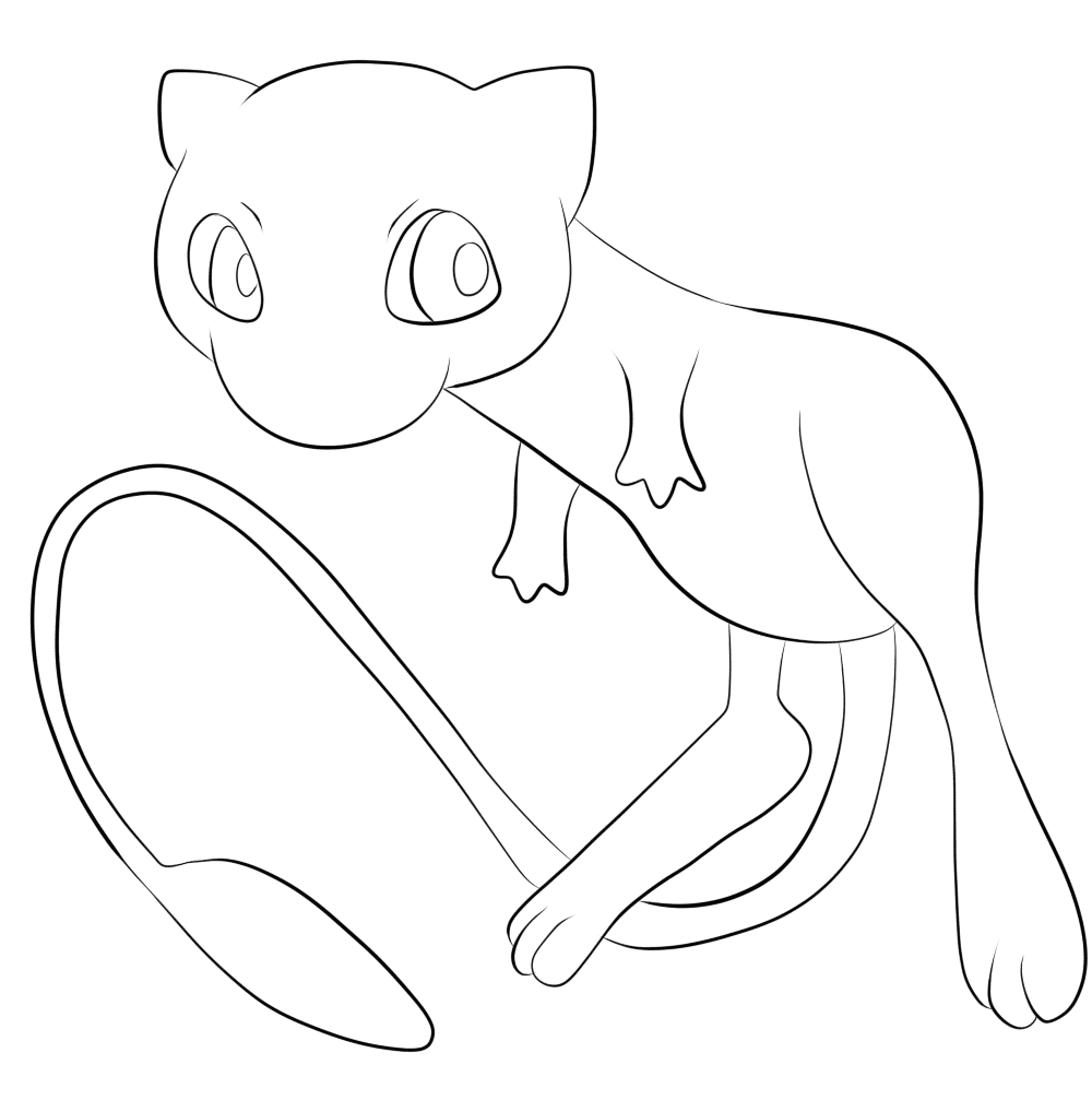 Mew coloring pages 4