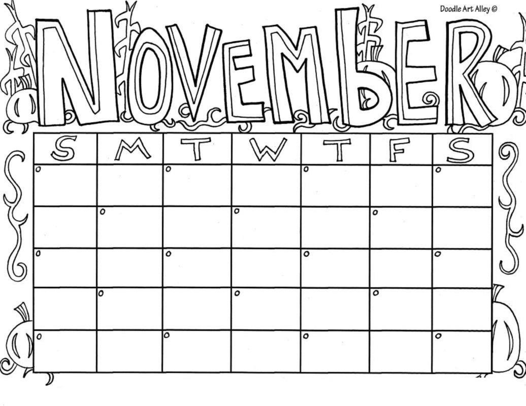 November coloring sheets five