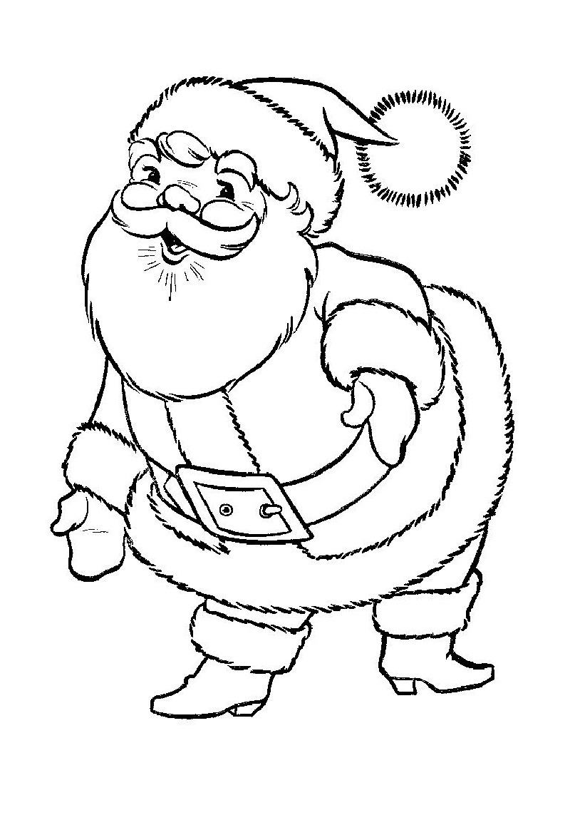 Santa coloring pages clause