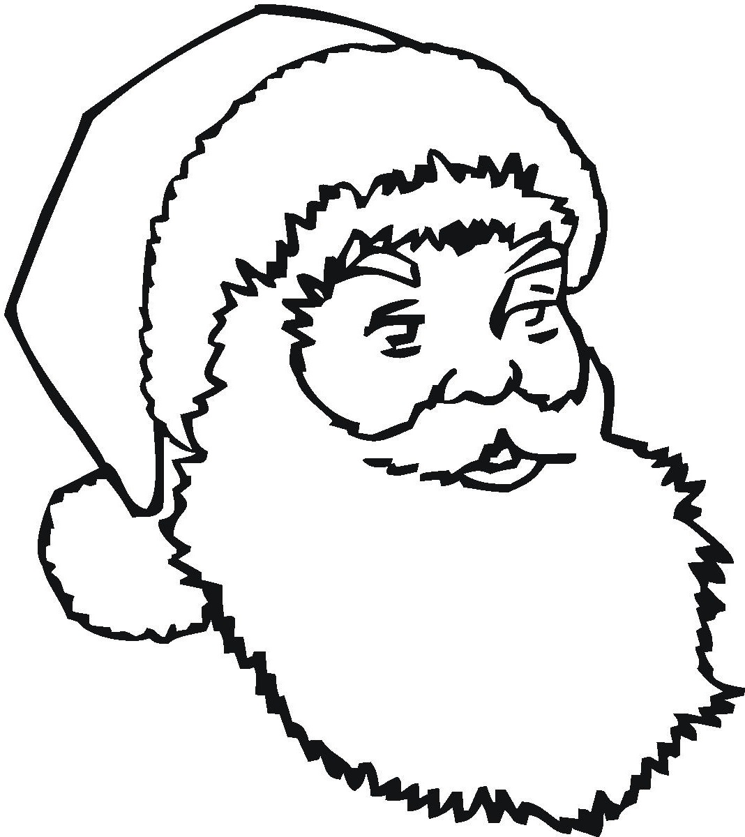 Santa coloring pages face