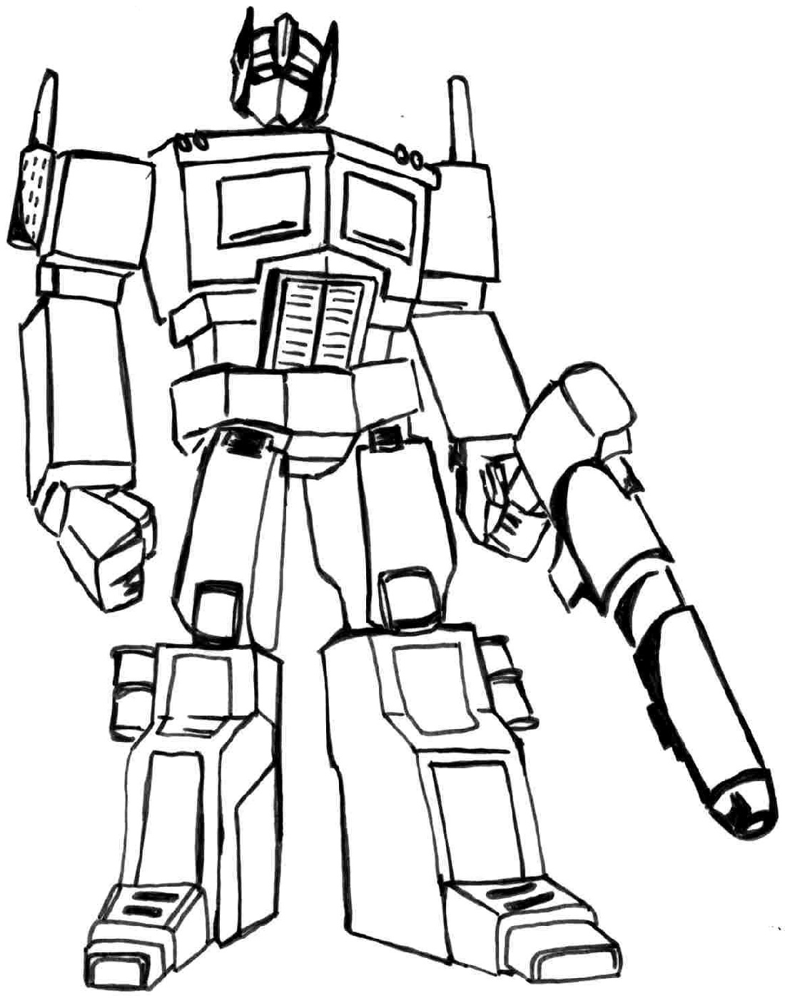 Transformer coloring pages optimus prime 1