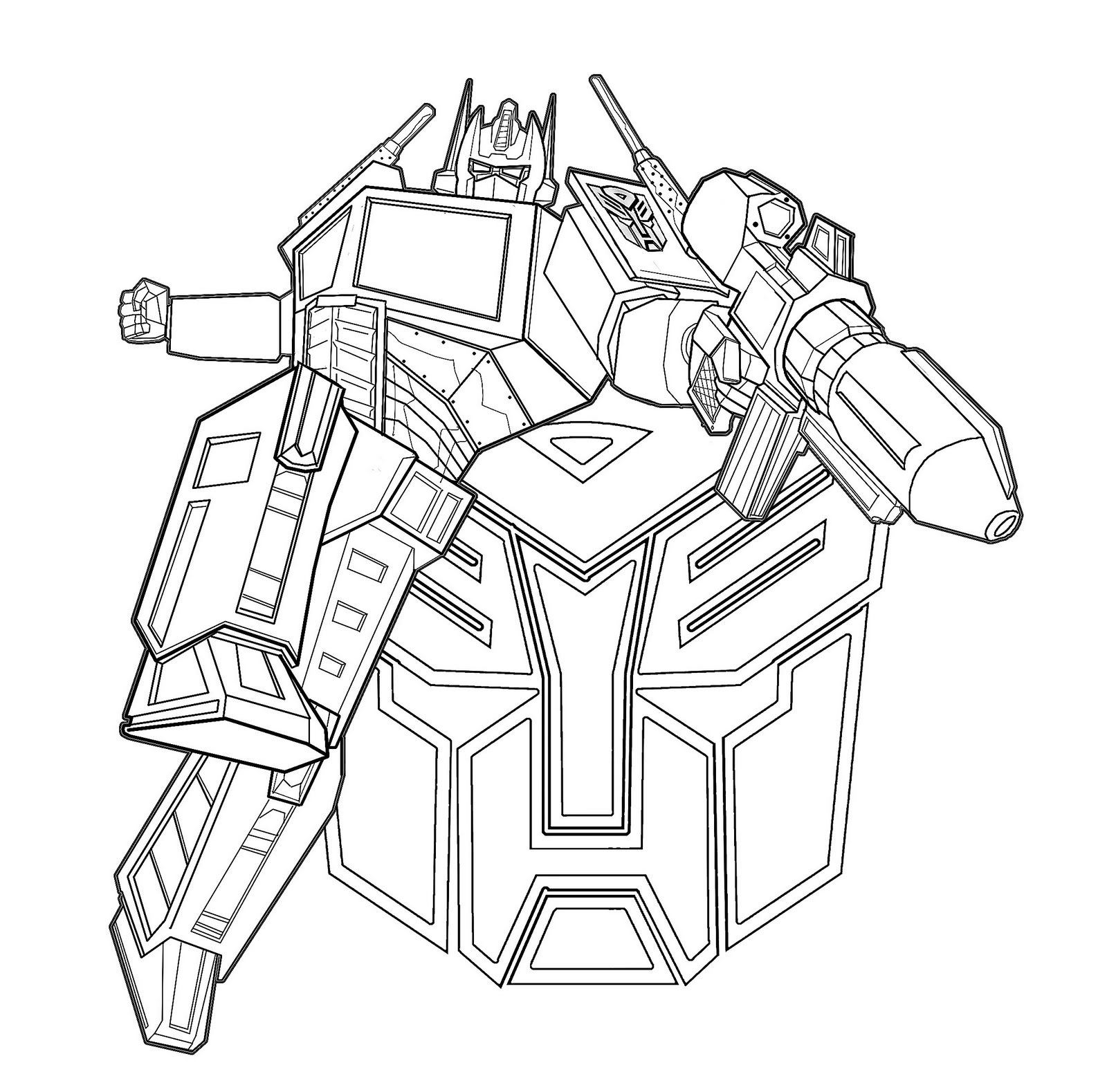 Transformer coloring pages optimus prime 2